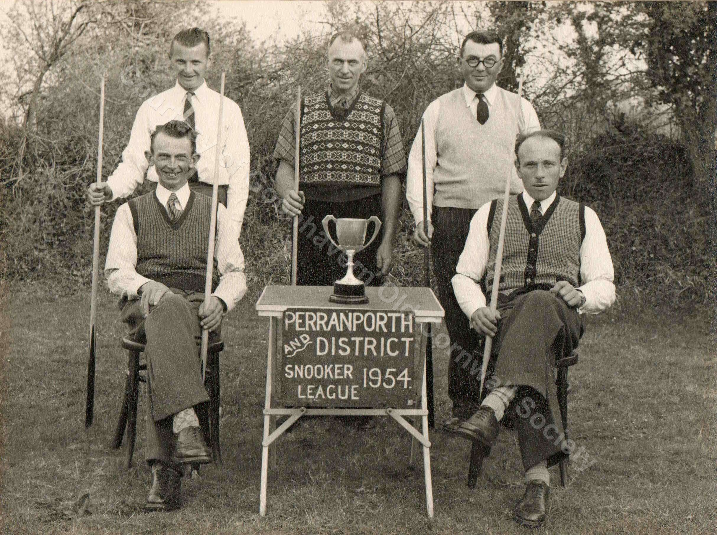 Goonhavern Snooker Team 1954