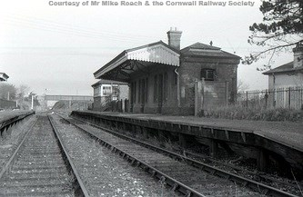 A close up of the main building. In January 1964 this station and yard became the railhead for the demolition contractors who had started lifting the line from Trenance Jct.