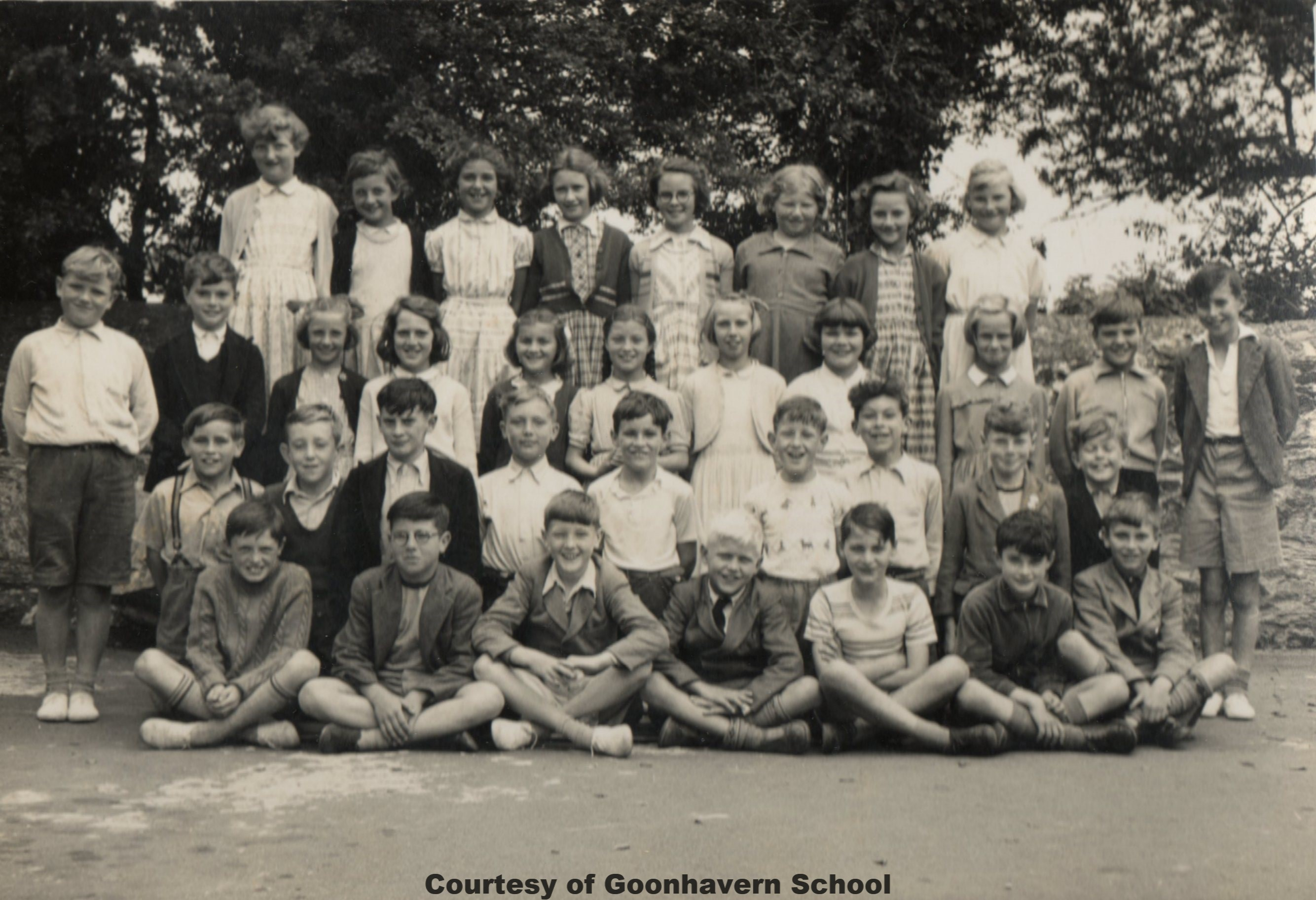 Goonhavern School Classes - Circa 1955-56