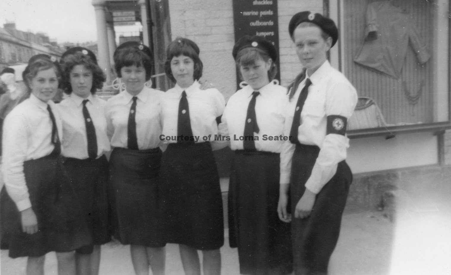 Goonhavern girls in Red Cross in Truro - Circa