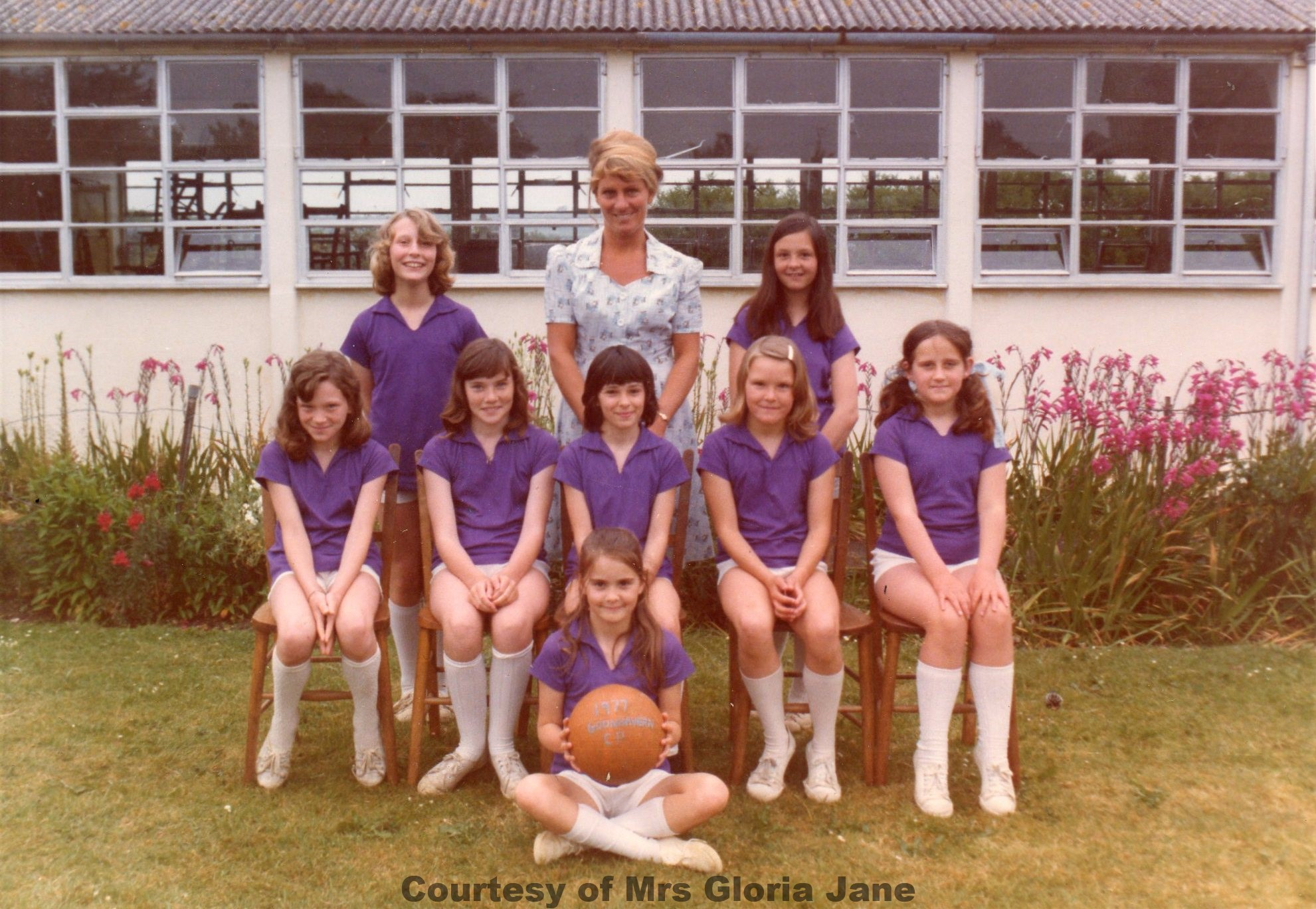 Goonhavern School Netball team 1977