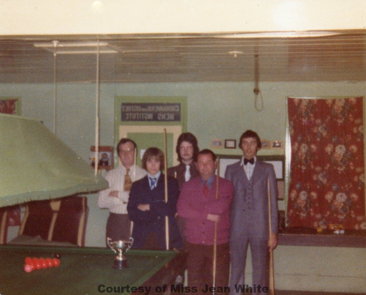 Goonhavern Snooker Team A League Champions - Circa 1970's