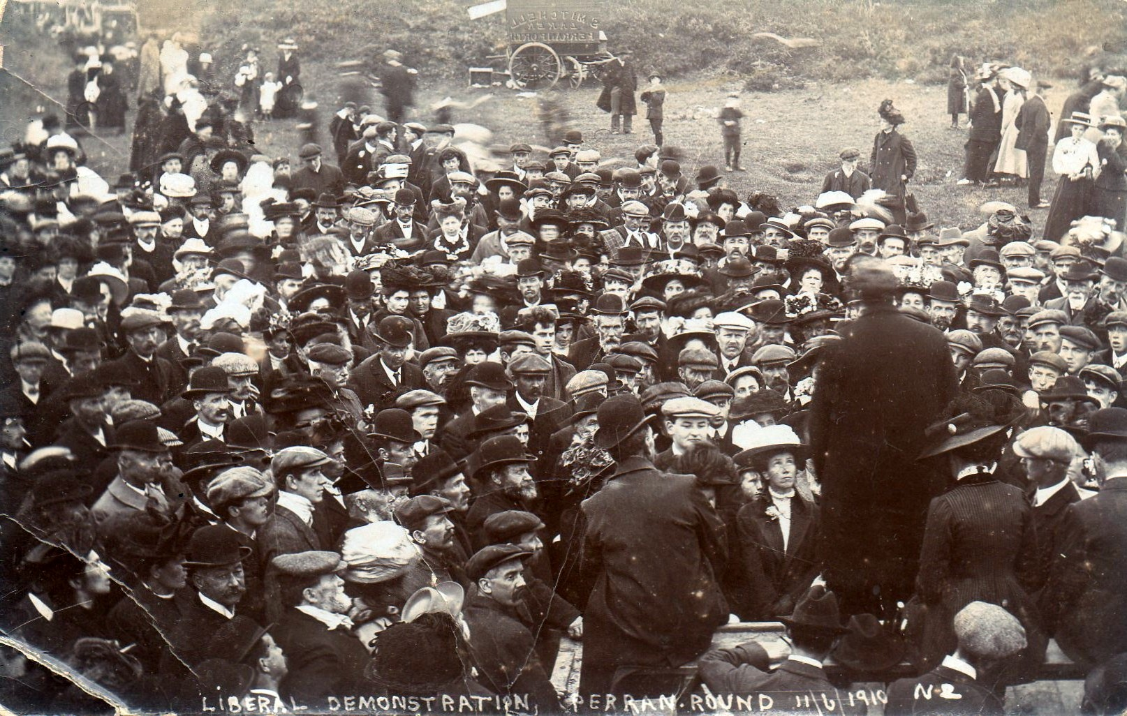 Liberal Demonstration at Perran Round 11 Jun 1910