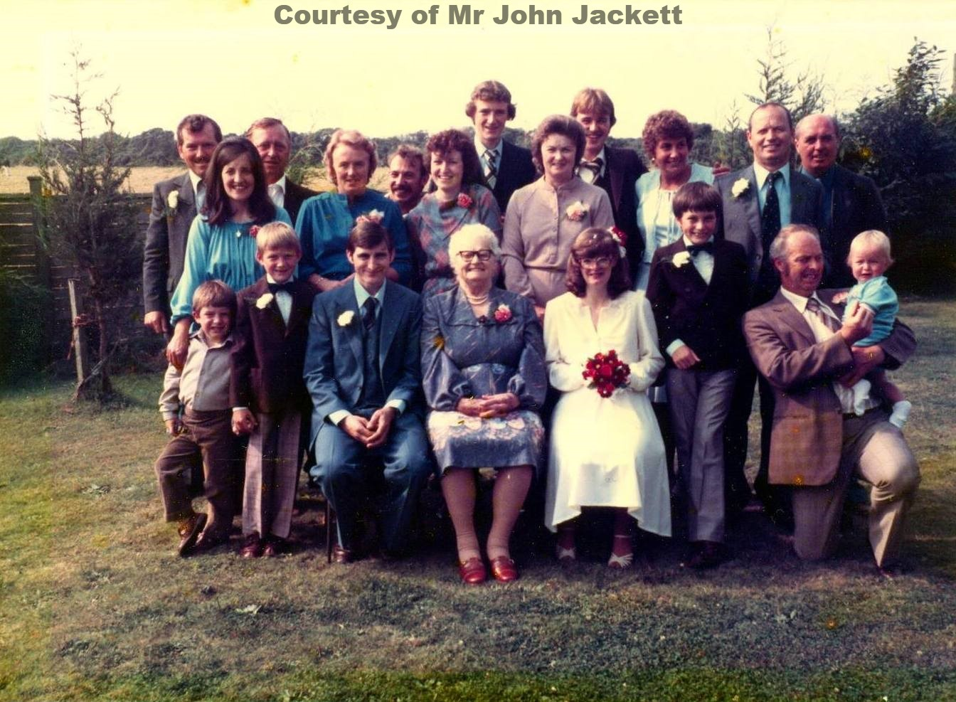 The wedding of Perranwell girl Rita Eley - 1981