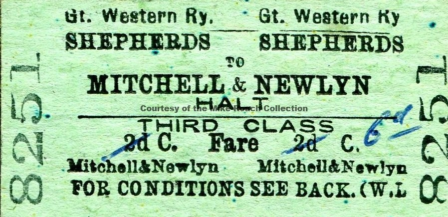 Shepherds - Mitchell & Newlyn Halt Ticket