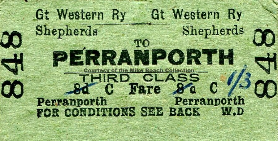 Shepherds - Perranporth Ticket