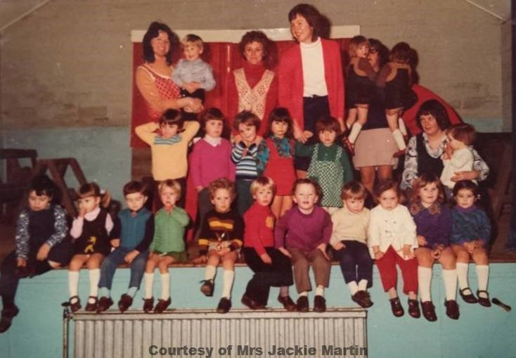 Goonhavern Play Group at Goonhavern Village Hall - Circa 1973