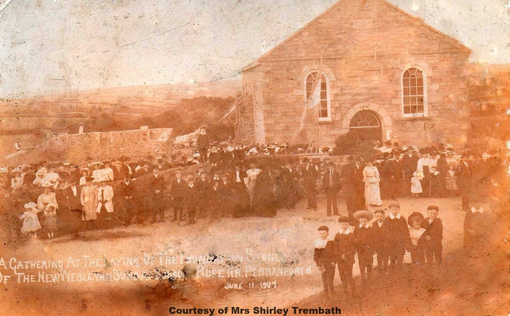 Laying Foundation Stone at Rose Chapel 1907