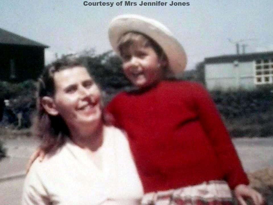 Mrs Ivey Crook with daughter Jennifer - Circa 1963