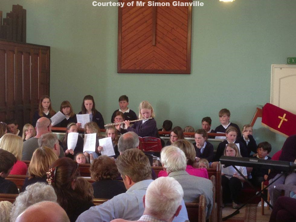 Goonhavern Primary School Choir in concert in Rose Chapel May 2013 (2)