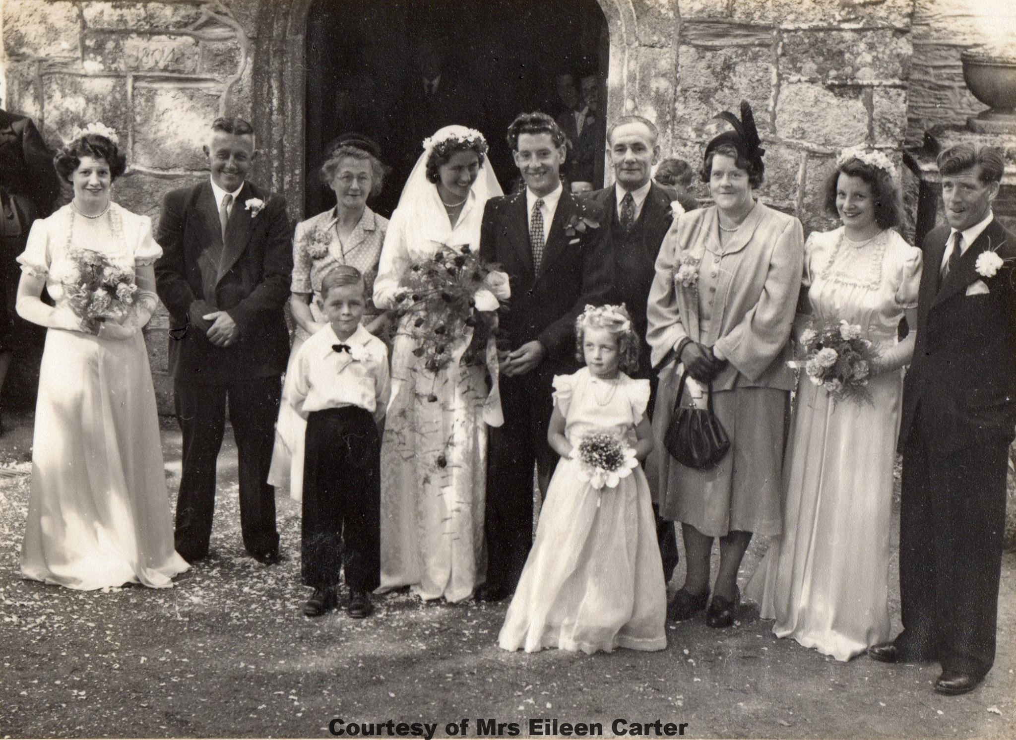 Wedding Eileen Duggin & Dennis Carter 13 Sep 1952