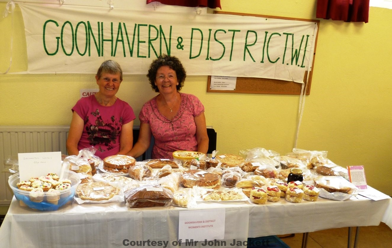 Goonhavern & District W.I. stall at Goonhavern Fete 60th Anniversary 160814
