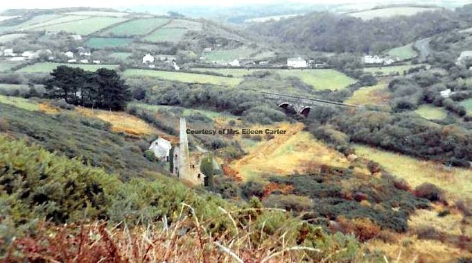 Perranwell Viaduct with New Chiverton Engine House - Circa 1970