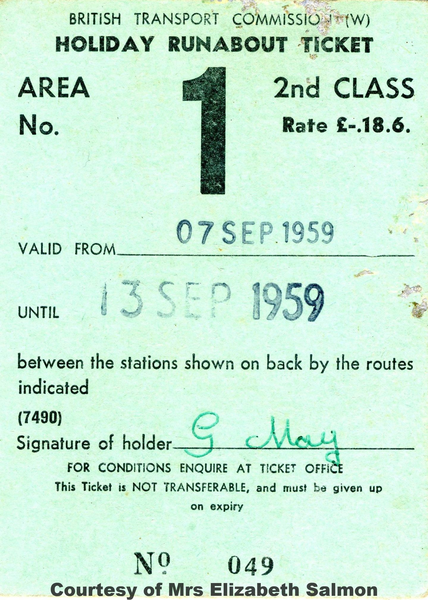 Holiday Runabout ticket