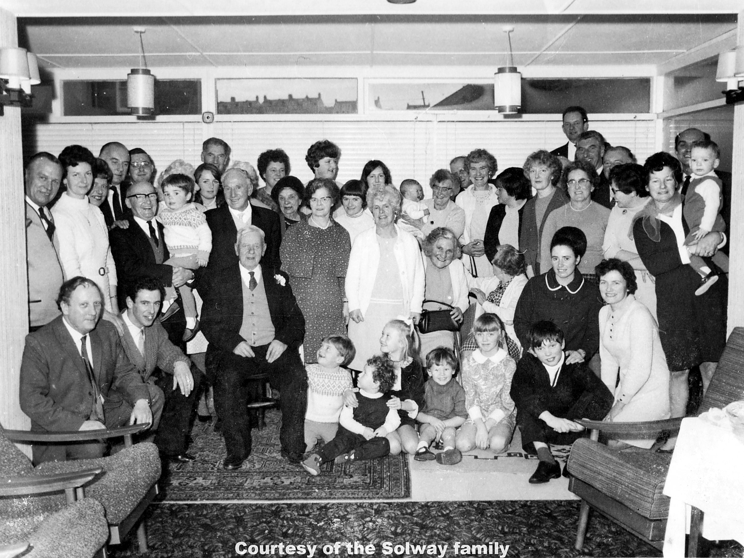 The Flamank Family 10Jan1969 50th or 60th Wedding Anv.